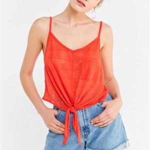 UO Cropped Tie Cami